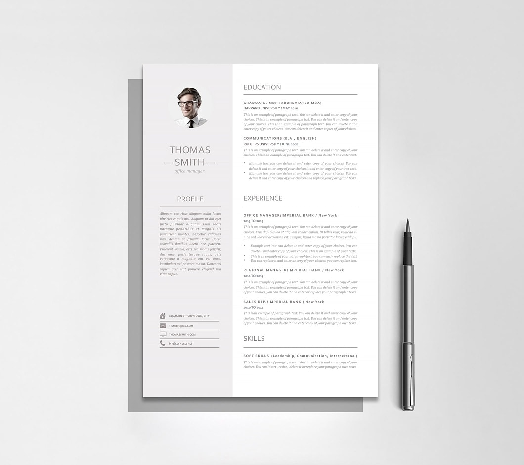Resumeway Resume Template 110960