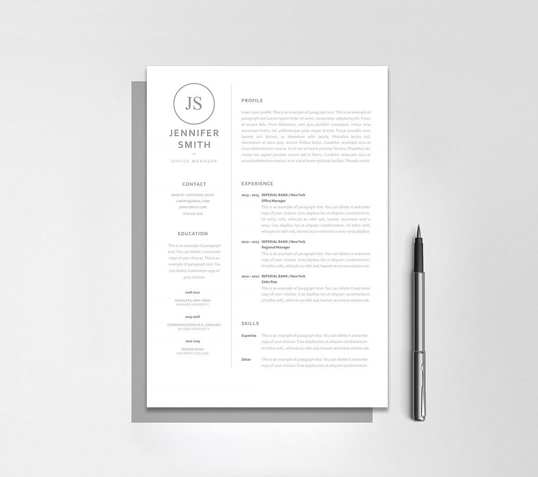 Resumeway Resume Template 120030