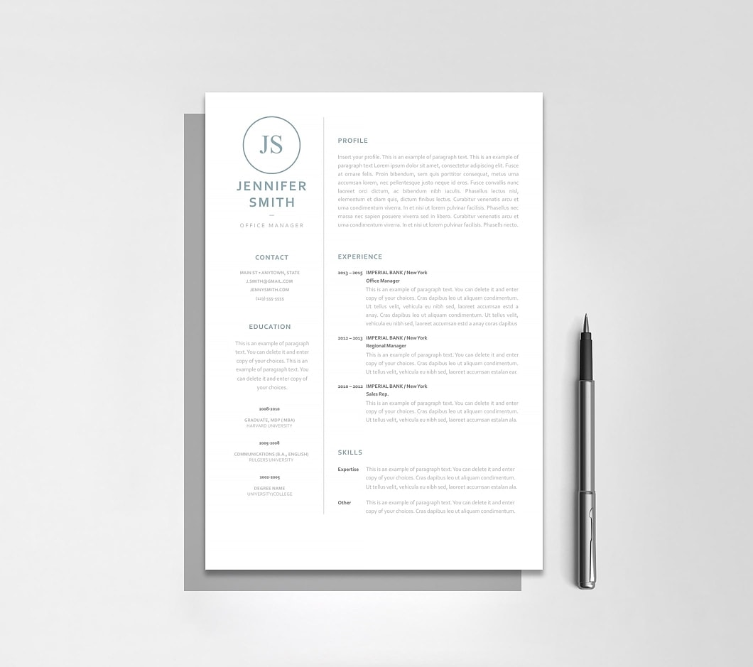Resumeway Resume Template 120040
