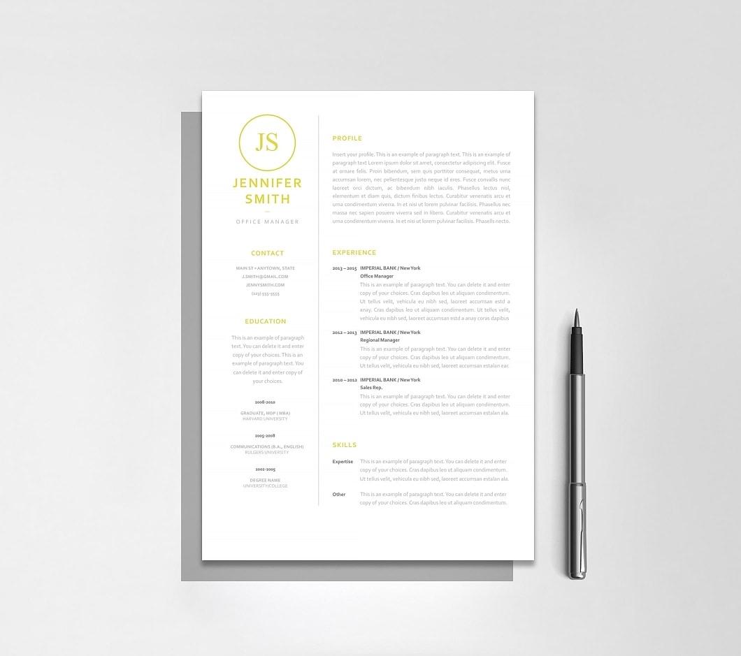 Resumeway Resume Template 120050