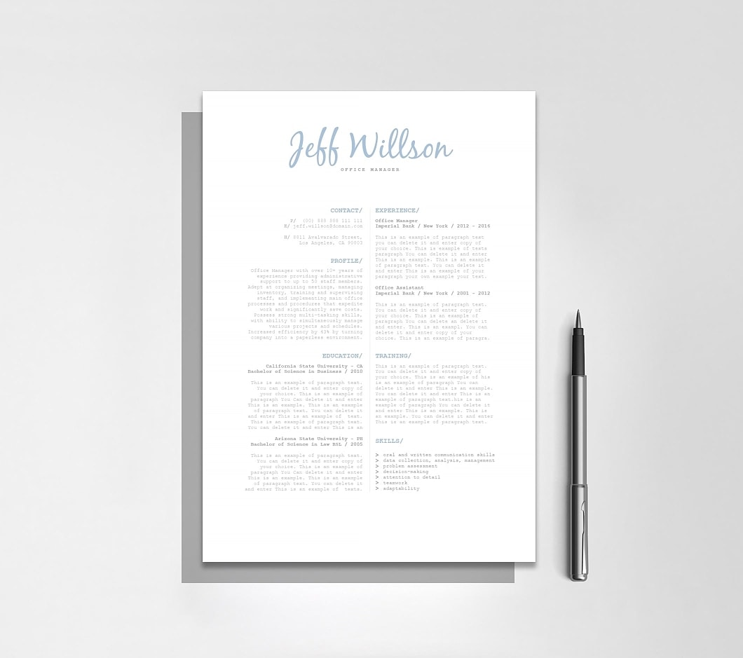 Resumeway Resume Template 120130