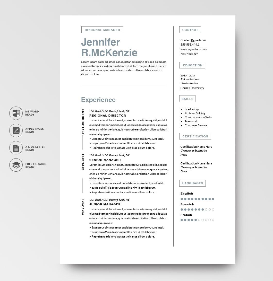 Resumeway Resume Template 120740