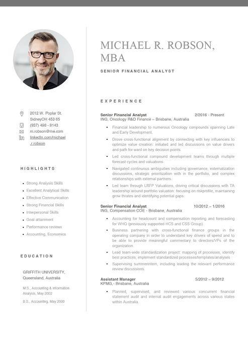 Senior Financial Analyst