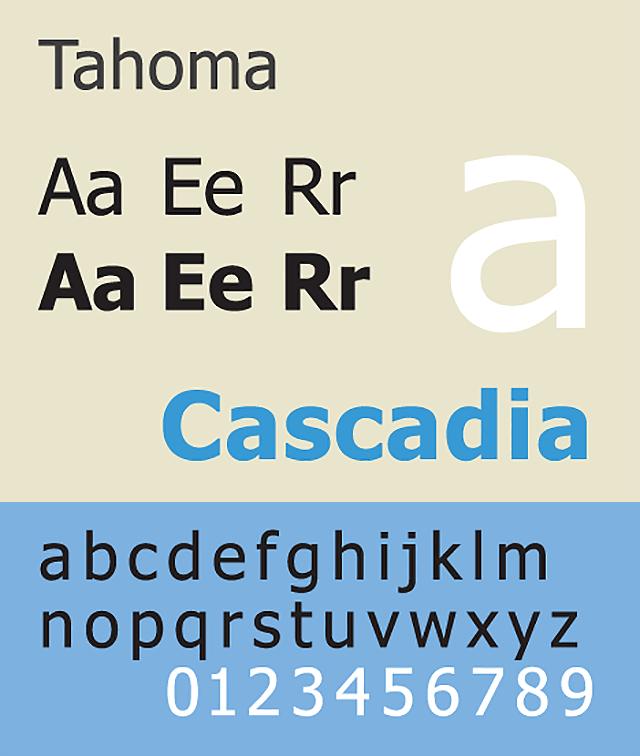Resume Fonts 2020 - Tahoma Font