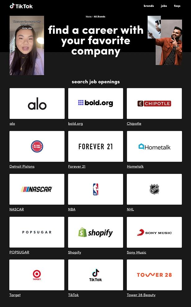 Tiktok Resume Jobs