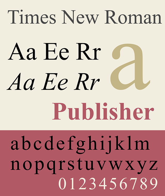 Resume Fonts 2020 - Times New Roman Font