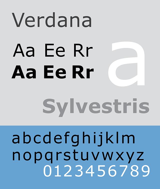 Resume Fonts 2020 - Verdana Font